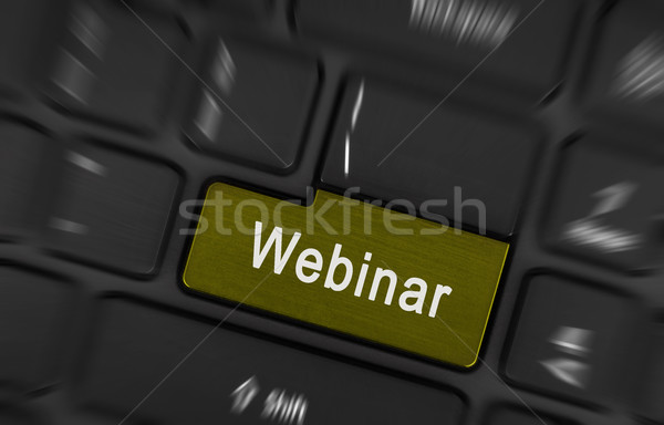 Laptop button - Webinar Stock photo © michaklootwijk