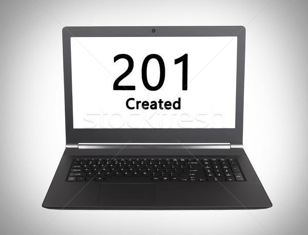 Http statut code portable écran ordinateur Photo stock © michaklootwijk