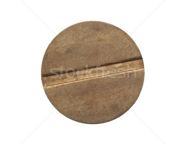 Vreemd munt geïsoleerd witte textuur plaat Stockfoto © michaklootwijk