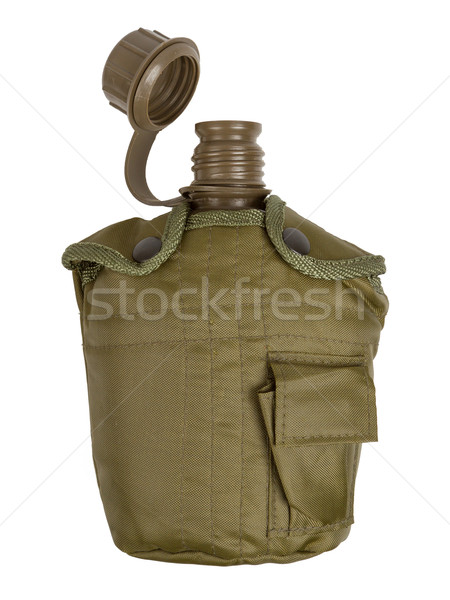 Army water canteen isolated Stock photo © michaklootwijk