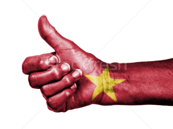 старуху знак флаг шаблон Вьетнам Сток-фото © michaklootwijk