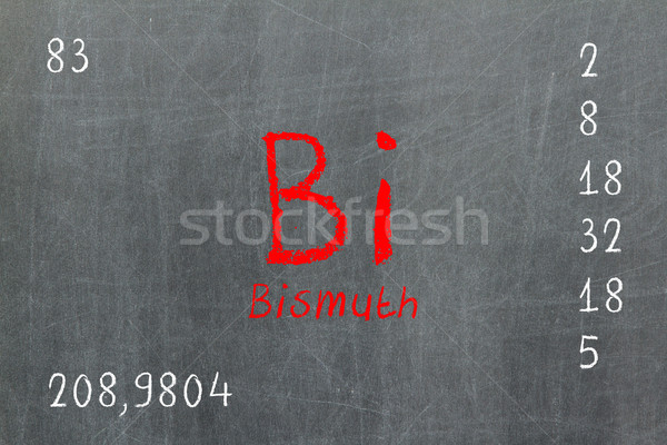 Isolated blackboard with periodic table, Bismuth Stock photo © michaklootwijk