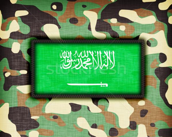 üniforma Suudi Arabistan bayrak doku yeşil Stok fotoğraf © michaklootwijk