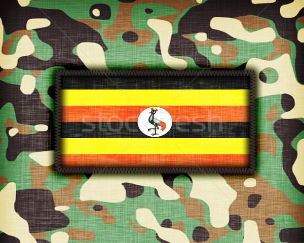 üniforma Uganda bayrak soyut yeşil Stok fotoğraf © michaklootwijk