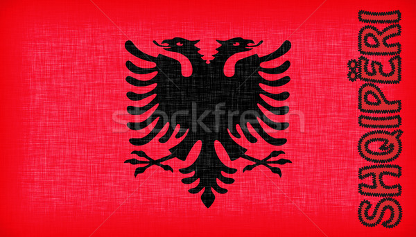 Flag of Albania stitched with letters Stock photo © michaklootwijk