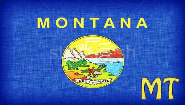 Linen flag of the US state of Montana  Stock photo © michaklootwijk