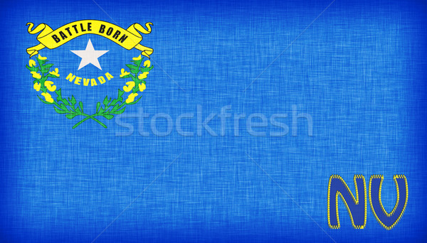 Linen flag of the US state of Nevada Stock photo © michaklootwijk