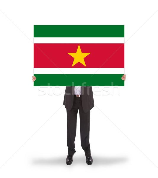 бизнесмен большой карт флаг Суринам Сток-фото © michaklootwijk