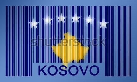 Código de barras bandera Bosnia Herzegovina pintado superficie diseno Foto stock © michaklootwijk