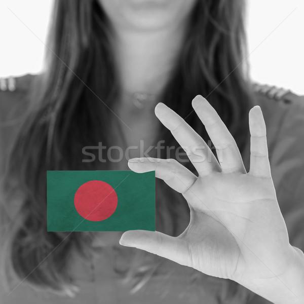 Mulher cartão de visita preto e branco Bangladesh espaço Foto stock © michaklootwijk