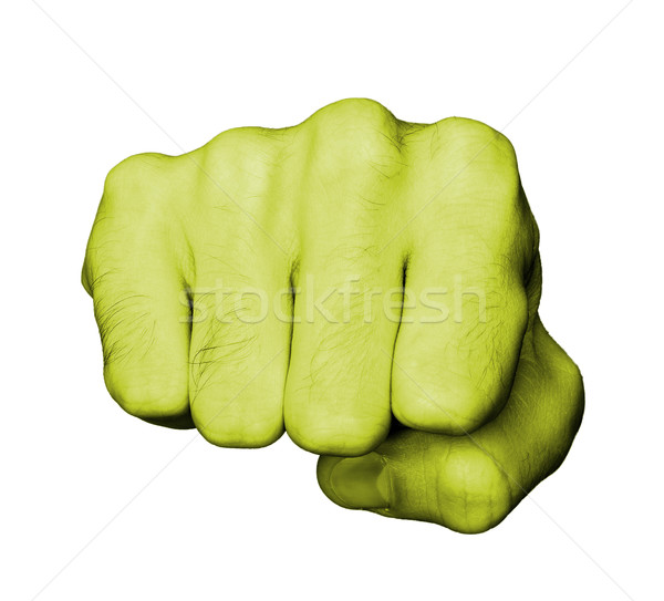 Fist of a man punching Stock photo © michaklootwijk