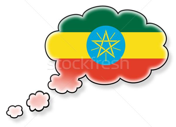 флаг облаке изолированный белый Эфиопия искусства Сток-фото © michaklootwijk