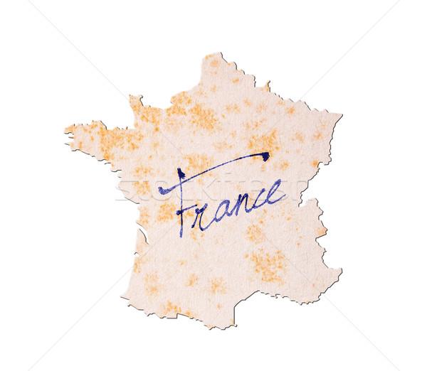 Francia papel viejo escritura azul tinta papel Foto stock © michaklootwijk