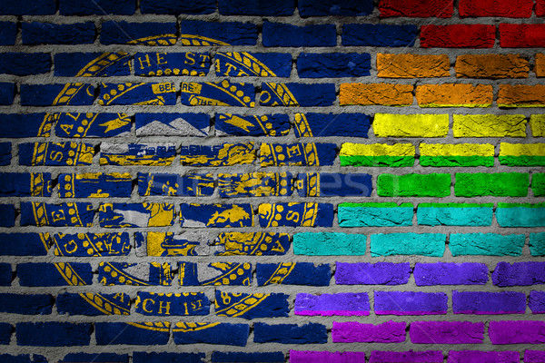 Dark brick wall - LGBT rights - Nebraska Stock photo © michaklootwijk