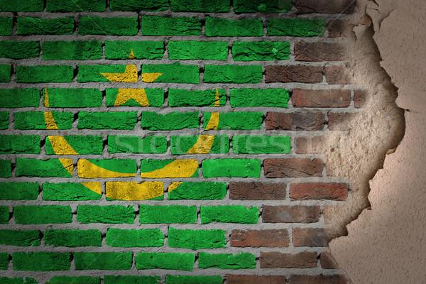Ciemne murem gipsu Mauretania tekstury banderą Zdjęcia stock © michaklootwijk