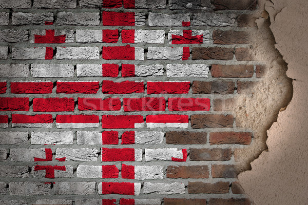 Sombre mur de briques plâtre Géorgie texture pavillon Photo stock © michaklootwijk