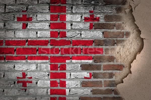 Dark brick wall with plaster - Georgia Stock photo © michaklootwijk