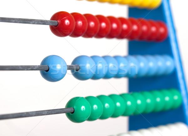 Coloré boulier mise au point sélective vieux simulateur Photo stock © michaklootwijk