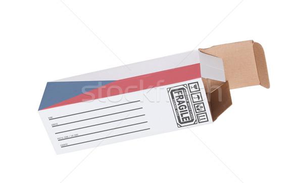エクスポート 製品 チェコ共和国 紙 ボックス ストックフォト © michaklootwijk