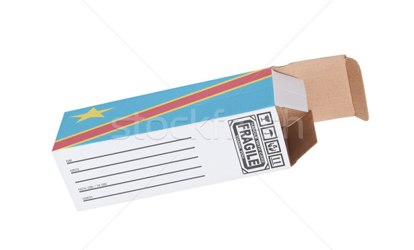 Exportar produto Congo papel caixa Foto stock © michaklootwijk