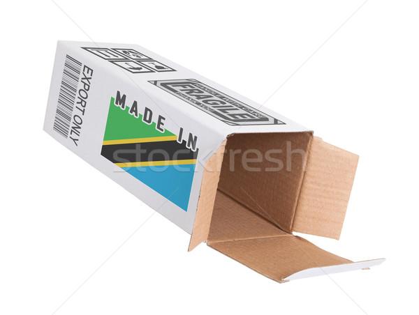 Ihracat ürün Tanzanya kâğıt kutu Stok fotoğraf © michaklootwijk