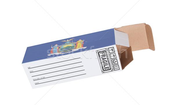 Exporter produit New York papier boîte Photo stock © michaklootwijk