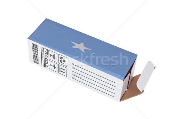 エクスポート 製品 ソマリア 紙 ボックス ストックフォト © michaklootwijk