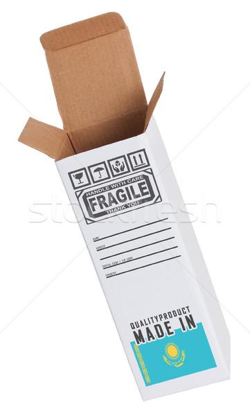 エクスポート 製品 カザフスタン 紙 ボックス ストックフォト © michaklootwijk