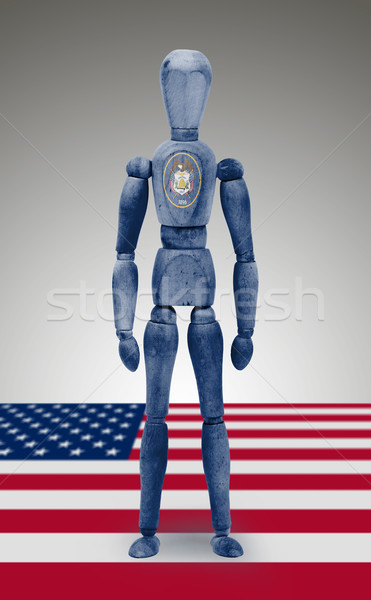 Wood figure mannequin with US state flag bodypaint - Utah Stock photo © michaklootwijk