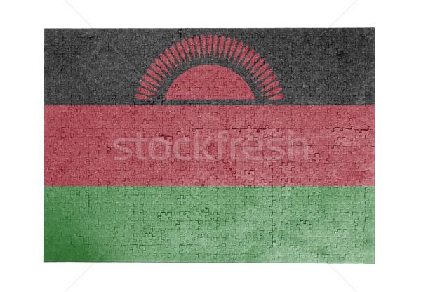 Groot 1000 stukken Malawi vlag Stockfoto © michaklootwijk