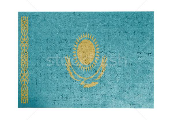 Grande 1000 peças Cazaquistão bandeira Foto stock © michaklootwijk