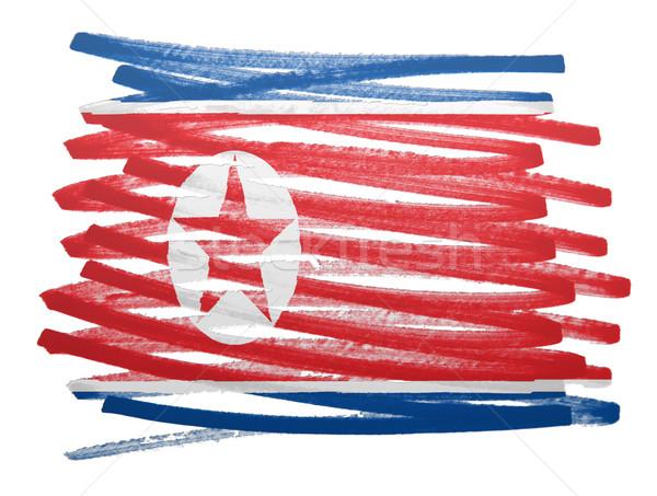 Flag illustration - North Korea Stock photo © michaklootwijk