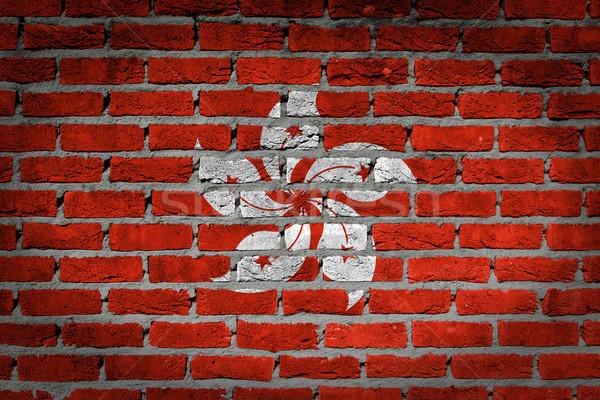Dark brick wall - Hong Kong Stock photo © michaklootwijk