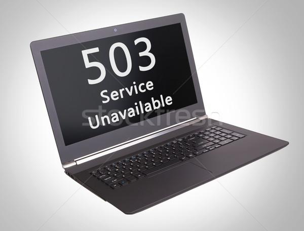 Http estado código serviço laptop tela Foto stock © michaklootwijk