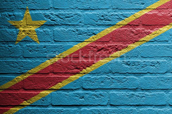 レンガの壁 絵画 フラグ 民主的な 共和国 孤立した ストックフォト © michaklootwijk
