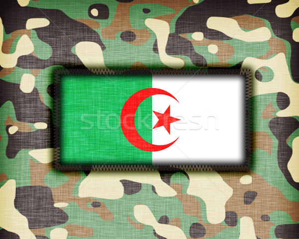 Uniforme Argélia bandeira textura verde Foto stock © michaklootwijk