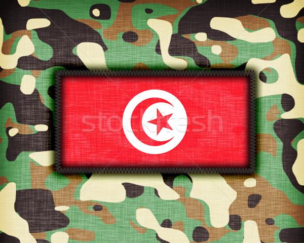 álca egyenruha zászló absztrakt zöld szövet Stock fotó © michaklootwijk