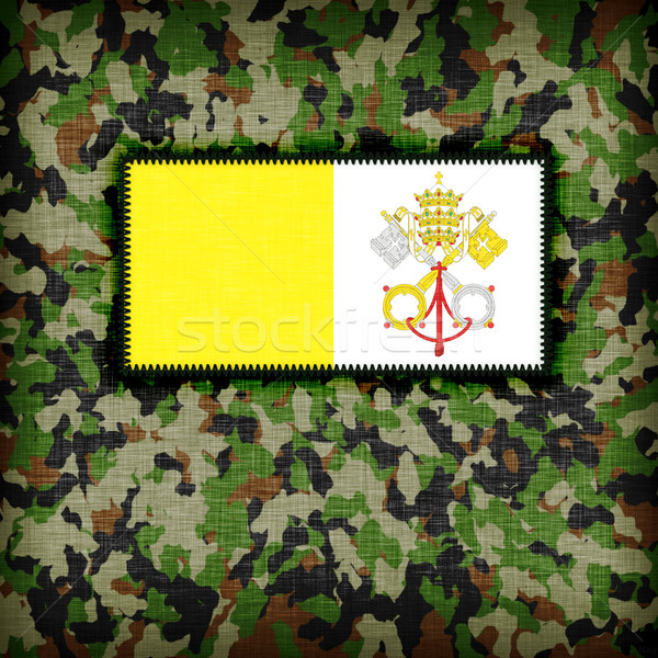 Camouflage uniform Vaticaanstad vlag textuur abstract Stockfoto © michaklootwijk