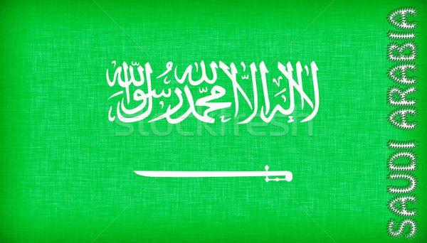 Flag of Saudi Arabia stitched with letters Stock photo © michaklootwijk