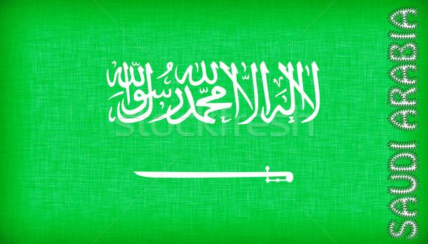 Zászló Szaúd-Arábia levelek izolált textúra világ Stock fotó © michaklootwijk