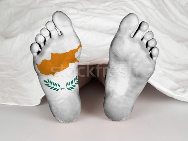 Láb zászló alszik halál Ciprus nő Stock fotó © michaklootwijk