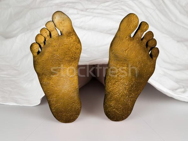 Lijk witte vel slapen dood vrouw Stockfoto © michaklootwijk
