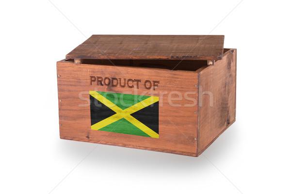 Stock fotó: Fából · készült · láda · izolált · fehér · termék · Jamaica