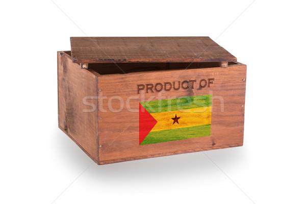 Stock fotó: Fából · készült · láda · izolált · fehér · termék · doboz