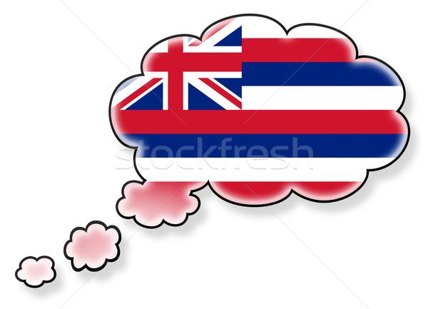Vlag wolk geïsoleerd witte Hawaii kunst Stockfoto © michaklootwijk