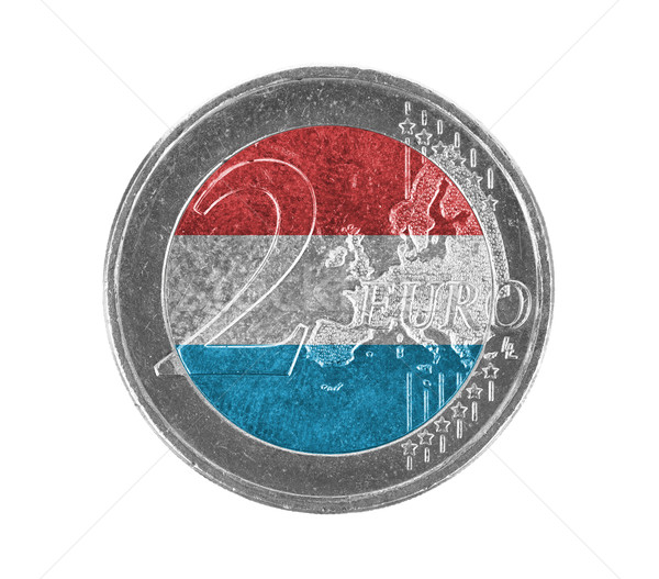 Stock photo: Euro coin, 2 euro