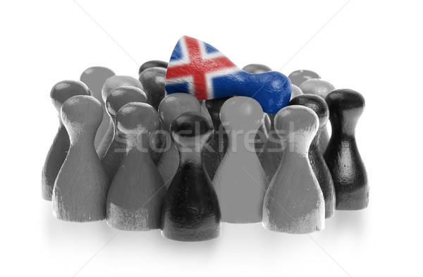 Uno unico pedone top bandiera Islanda Foto d'archivio © michaklootwijk