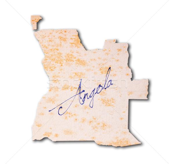 Angola vieux papier écriture bleu encre papier Photo stock © michaklootwijk