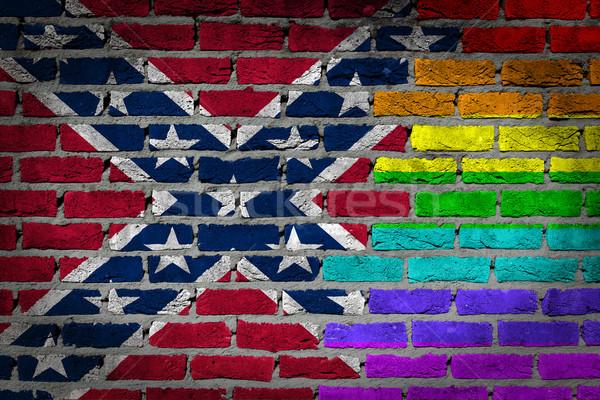 Dark brick wall - LGBT rights -  Stock photo © michaklootwijk