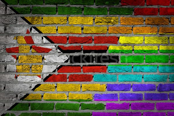 Buio muro di mattoni diritti Zimbabwe texture bandiera Foto d'archivio © michaklootwijk